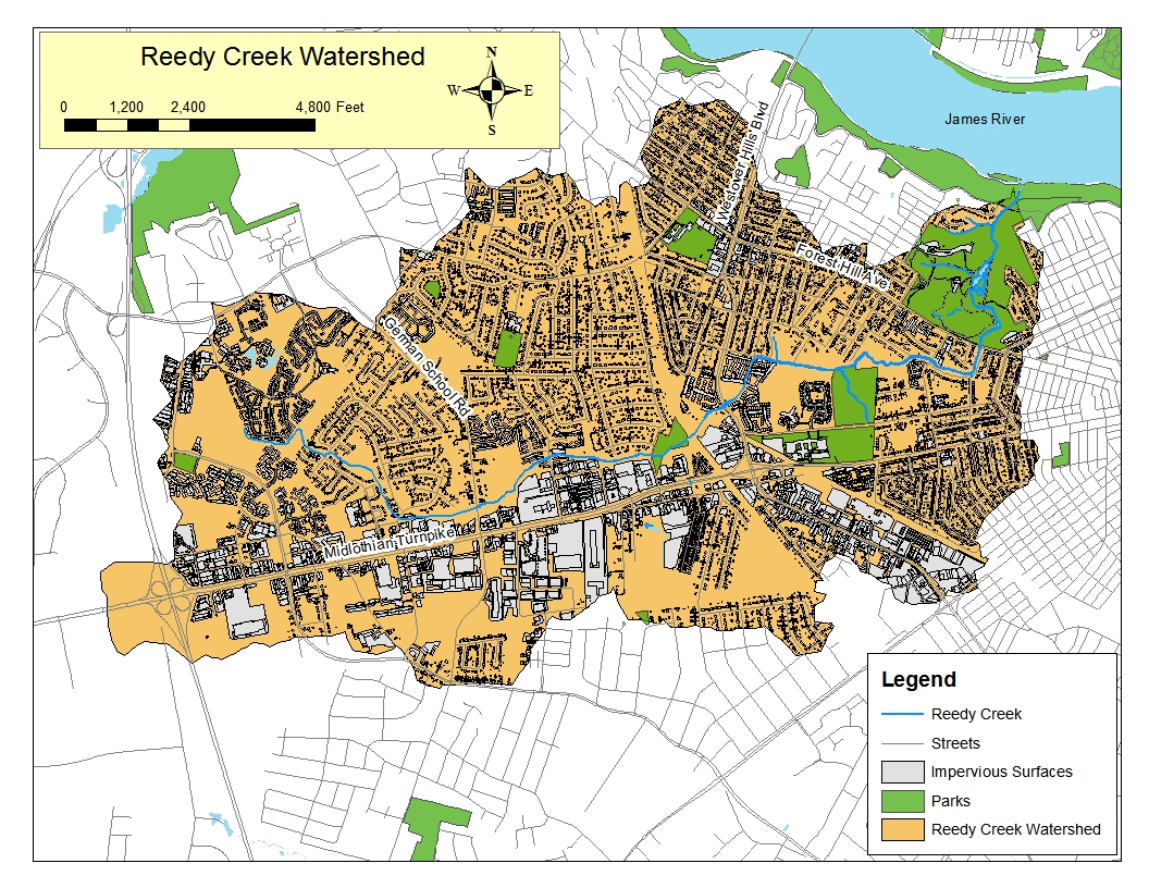 Watershed Map Reedy Creek Coalition - Watershed map of us