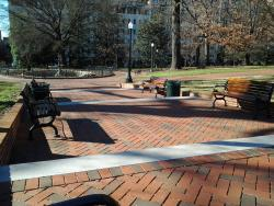 These permeable pavers were installed at the VA Capitol grounds.